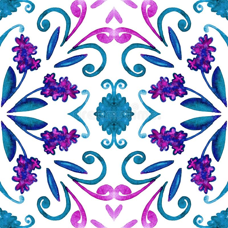 Geometryczny bezszwowy akwareli t?o kleksy, kapinosy, niestaranna akwarela acrylic kolor?w papier ilustraci papier fotografia royalty free