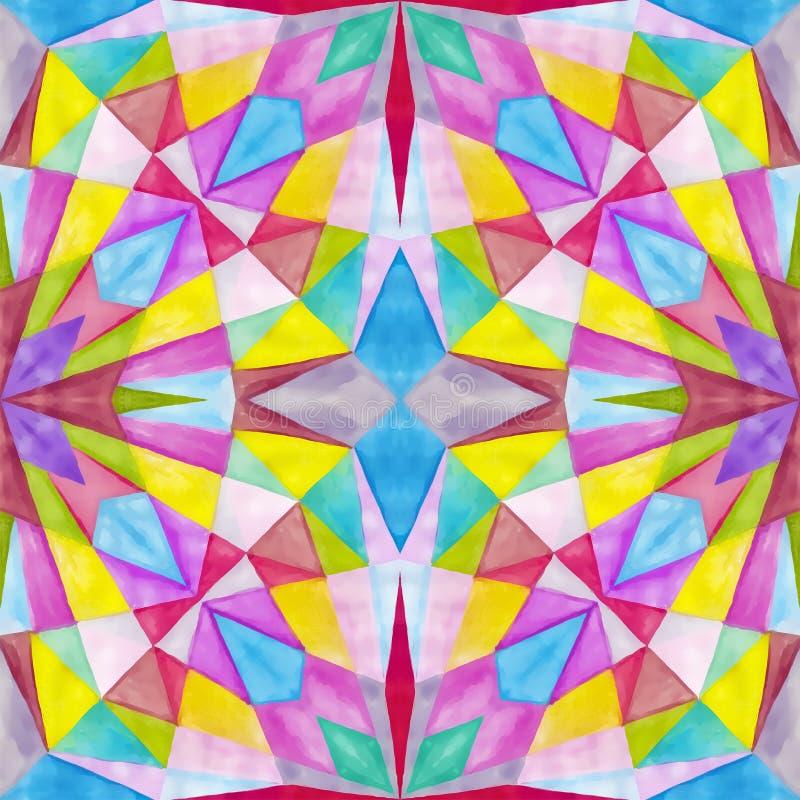 Geometryczny bezszwowy akwareli t?o kleksy, kapinosy, niestaranna akwarela acrylic kolor?w papier ilustraci papier ilustracji