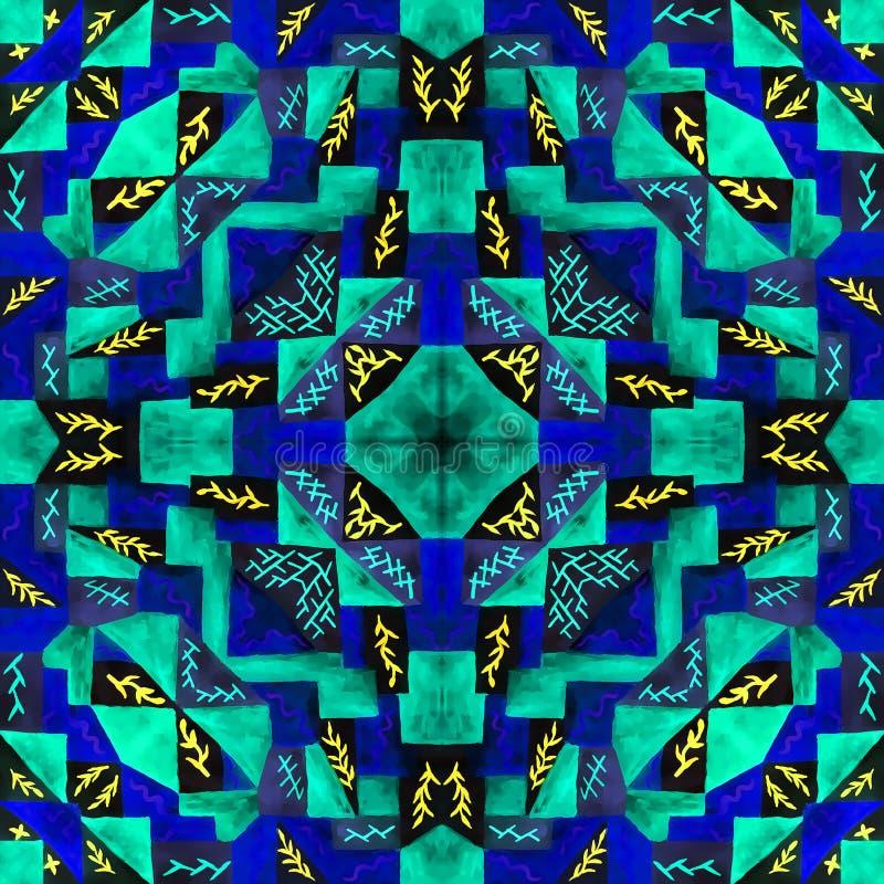 Geometryczny bezszwowy akwareli t?o kleksy, kapinosy, niestaranna akwarela acrylic kolor?w papier ilustraci papier ilustracja wektor