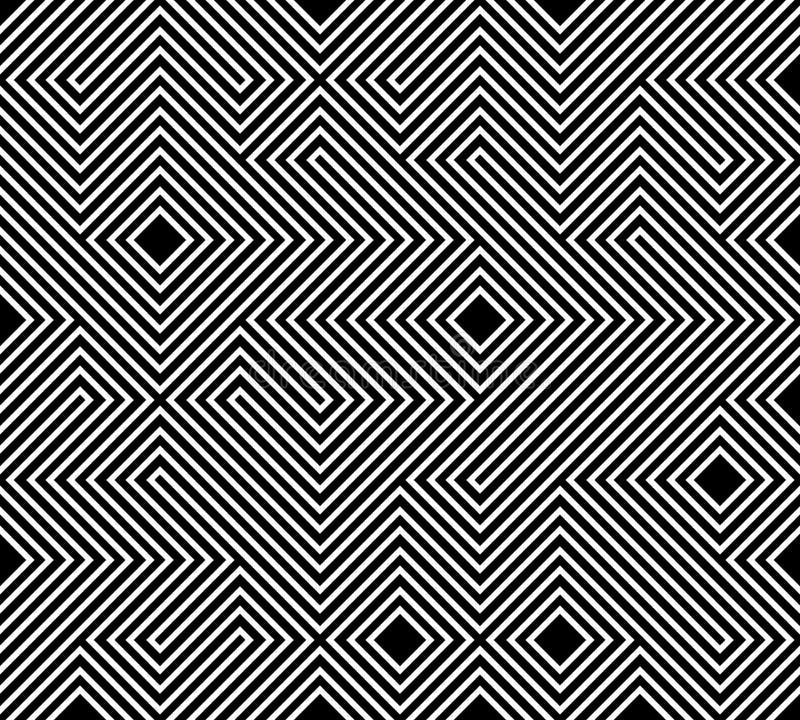Geometryczny bezszwowy deseniowy tło Prosty graficzny druk Wektorowa wielostrzałowa kreskowa tekstura Nowożytny swatch Minimalist ilustracji