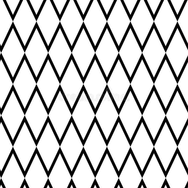 Geometryczny bezszwowy wzór z rhombus również zwrócić corel ilustracji wektora ilustracja wektor