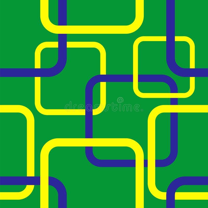 Geometryczny bezszwowy wzór w Brazylia flaga pojęciu ilustracja wektor