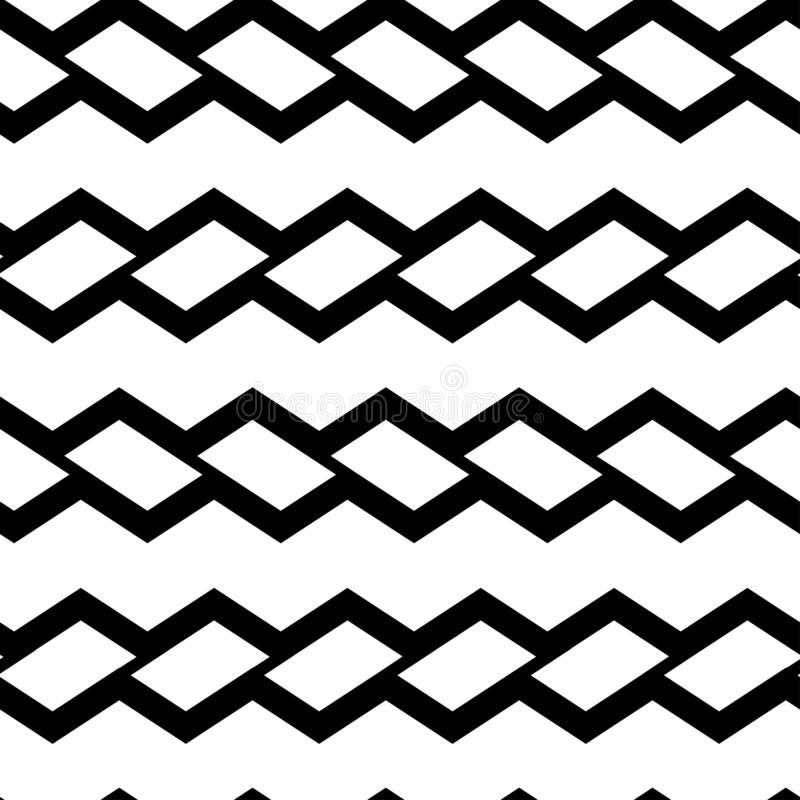 Geometryczny bezszwowy wzór z czarnymi prostokątami również zwrócić corel ilustracji wektora royalty ilustracja