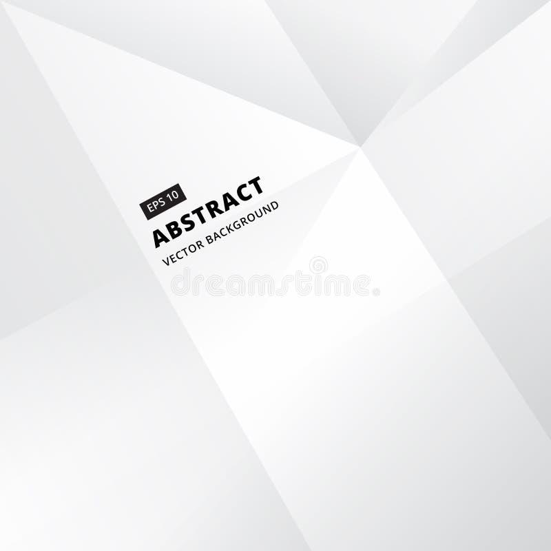Geometryczny białego & popielatego niskiego wieloboka abstrakcjonistyczny tło, wektor ja royalty ilustracja