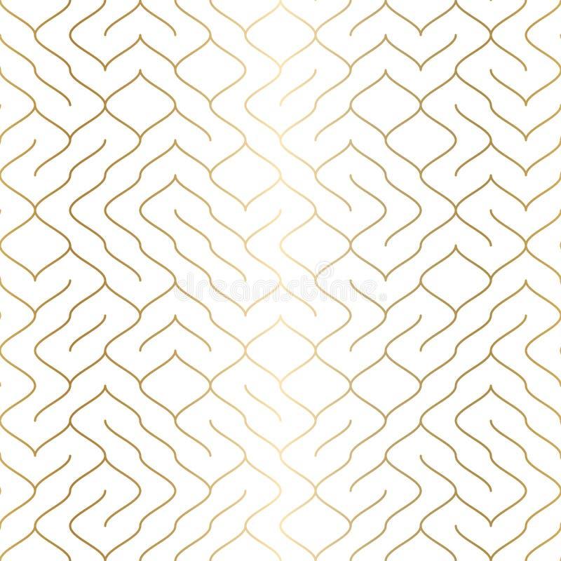 Geometryczny biały bezszwowy deseniowy tło Prosty graficzny druk Wektorowa wielostrzałowa kreskowa tekstura Nowożytny swatch mini ilustracji