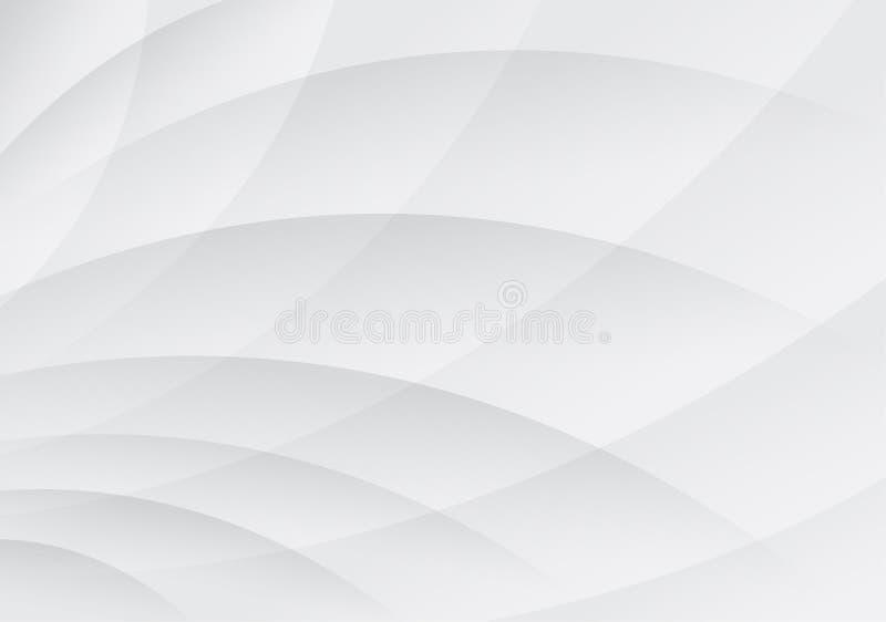 Geometryczny biały i szarość koloru tło royalty ilustracja