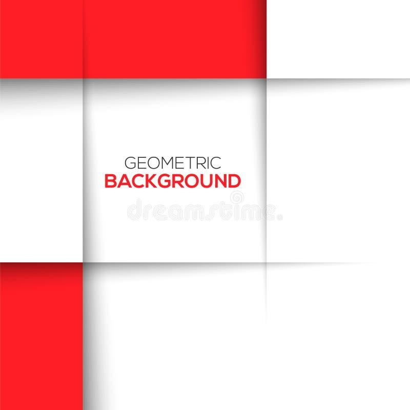 Geometryczny czerwieni 3D tło ilustracji