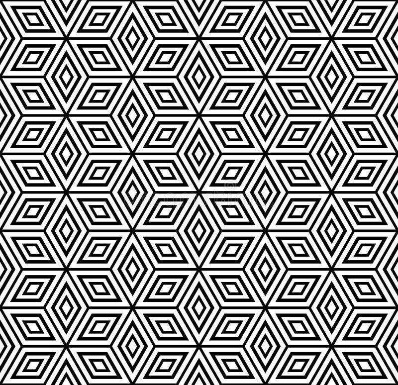 geometryczny deseniowy bezszwowy royalty ilustracja