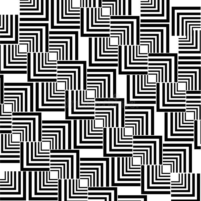 geometryczny deseniowy bezszwowy wektor Nowożytna tekstura z liniami, lampasy royalty ilustracja