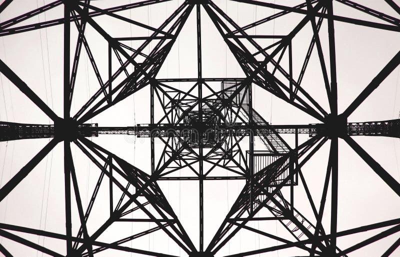 Geometryczny deseniowy Elektryczny wierza fotografia royalty free