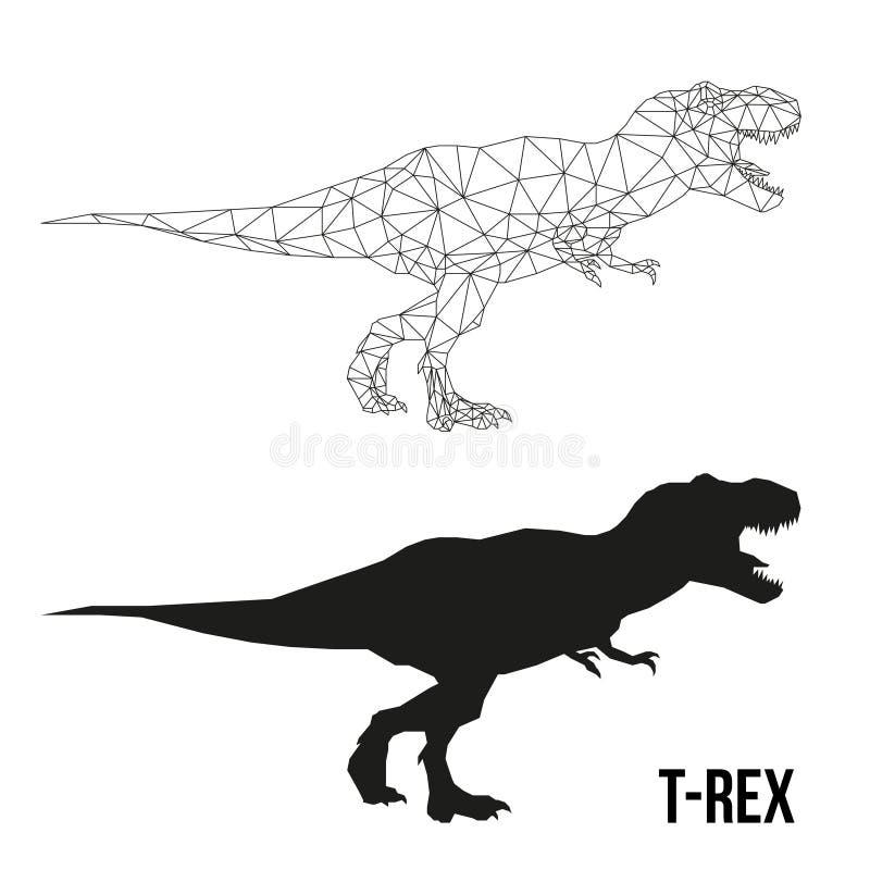 Geometryczny Dino tyrannosaurus ilustracja wektor