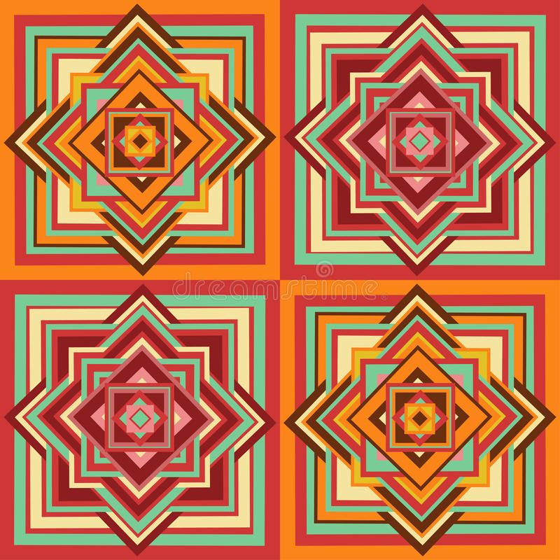 Geometryczny etniczny bezszwowy wzór ilustracji