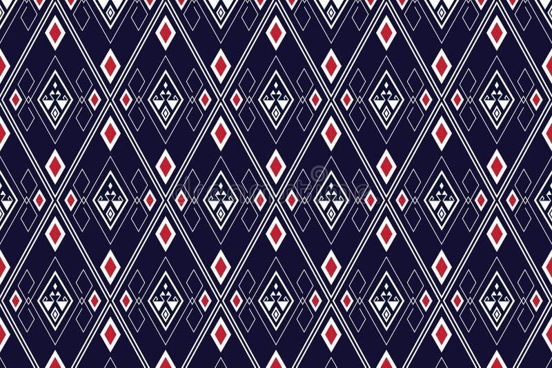 Geometryczny etniczny deseniowy tradycyjny projekt dla tła, dywan, tapeta, odzież, opakowanie, batik, tkanina, sarong, Wektorowy  fotografia stock