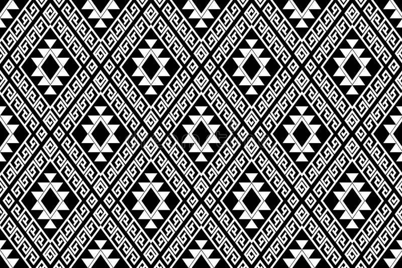 Geometryczny etniczny deseniowy tradycyjny projekt dla tła, dywan, tapeta, odzież, opakowanie, batik, tkanina, sarong, Wektorowy  zdjęcia stock