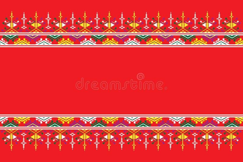Geometryczny etniczny deseniowy tradycyjny projekt dla tła, dywan, tapeta, odzież, opakowanie, batik, tkanina, sarong, Wektorowy  obrazy royalty free