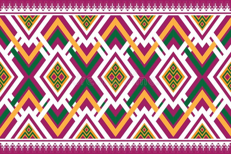 Geometryczny etniczny deseniowy tradycyjny projekt dla tła, dywan, tapeta, odzież, opakowanie, batik, tkanina, sarong, Wektorowy  zdjęcie stock