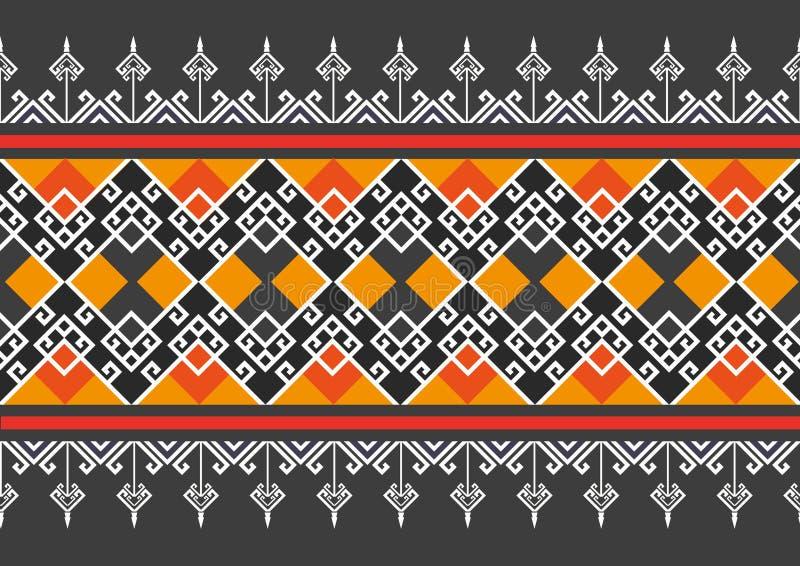 Geometryczny etniczny wzór ilustracja wektor