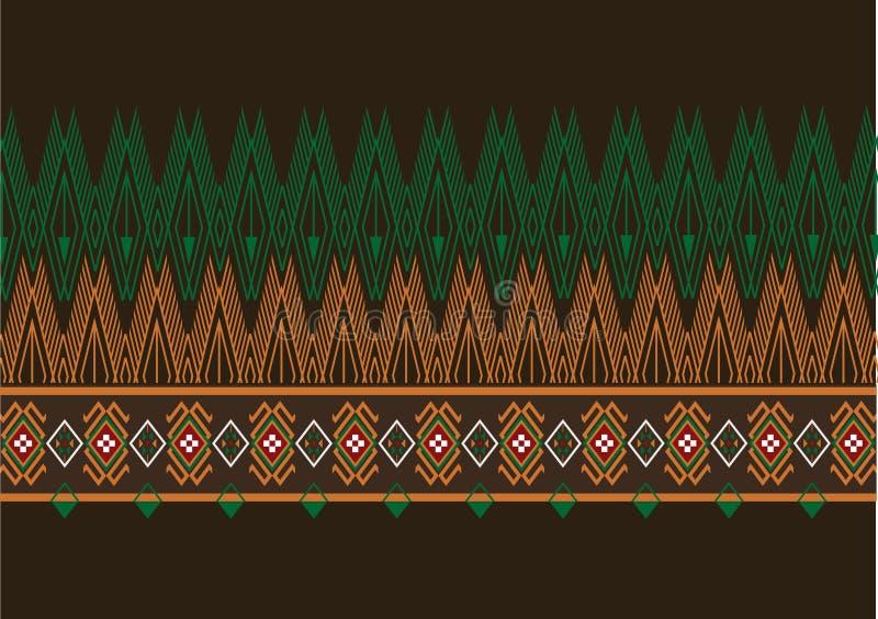 Geometryczny etniczny wzór zdjęcie stock