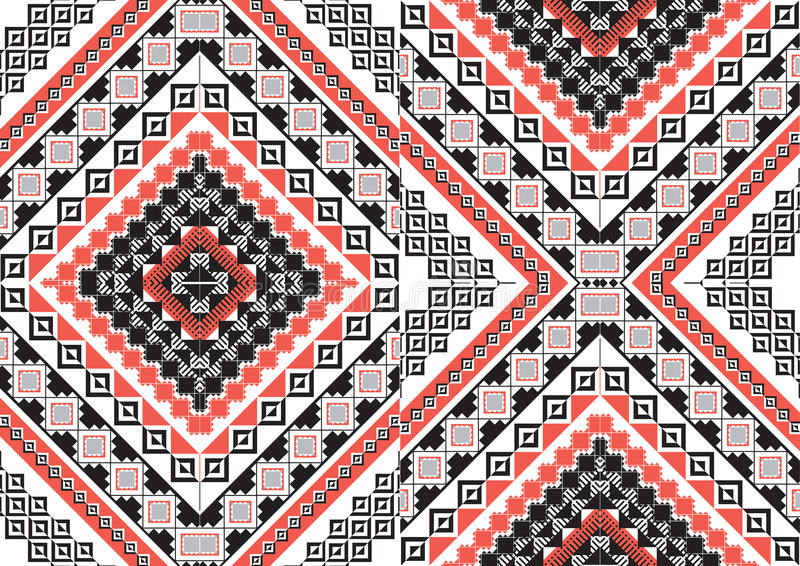 Geometryczny etniczny wzór fotografia stock