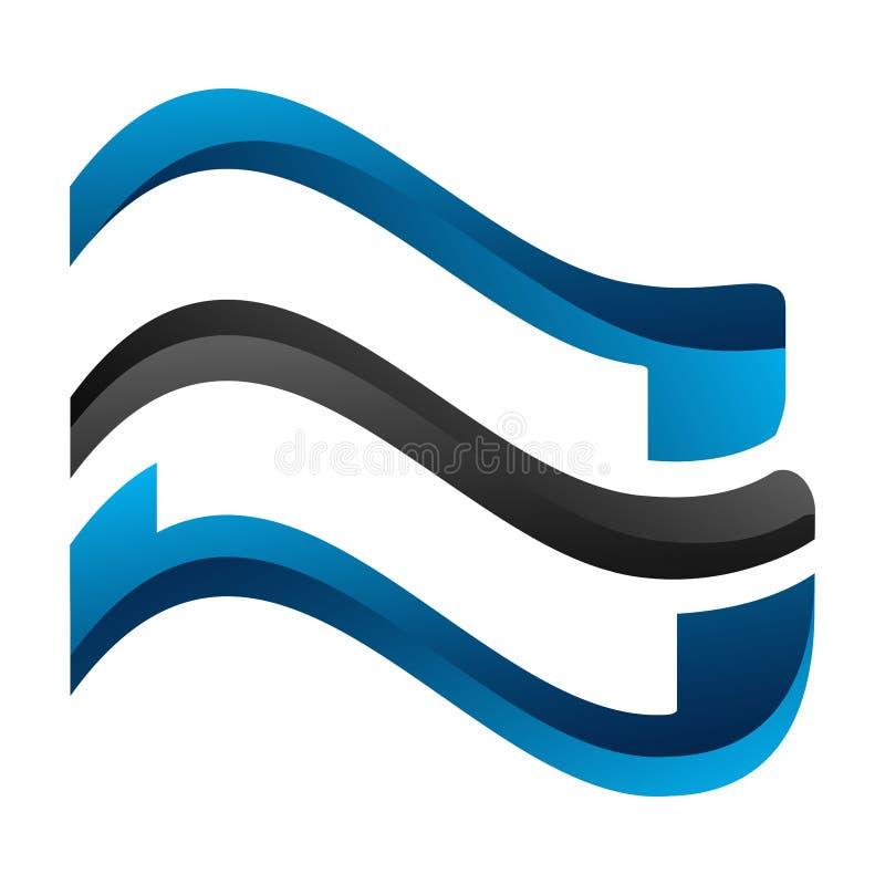 Geometryczny fali linii pojęcia projekt Symbolu szablonu elementu graficzny wektor ilustracji