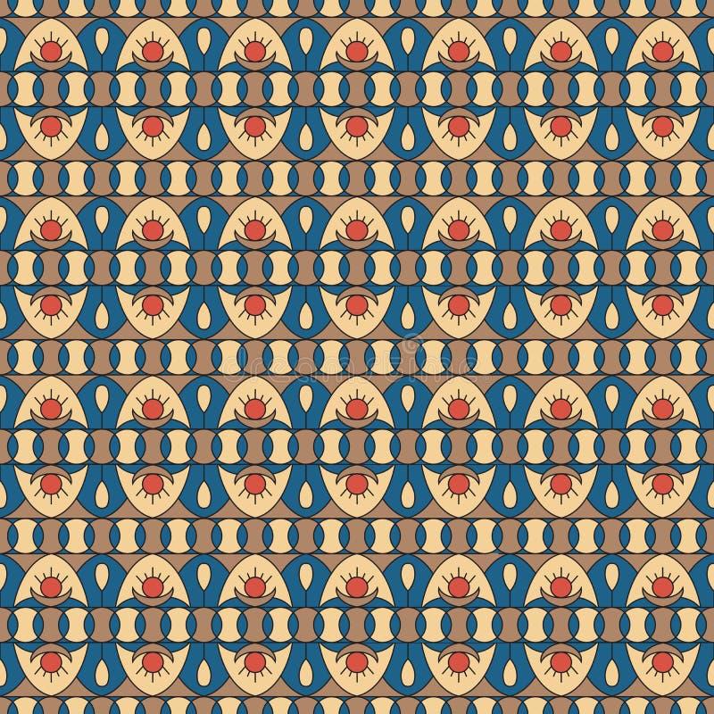 Geometryczny folkloru ornament Etniczna wektorowa tekstura Bezszwowy pasiasty wzór w rocznika stylu Coloful ilustracja ilustracja wektor