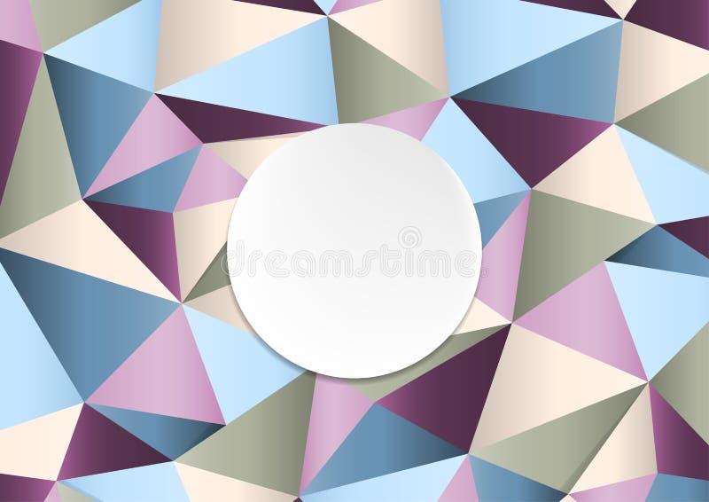 Geometryczny handcraft kolorowego papierowego szablonu abstrakta tło royalty ilustracja