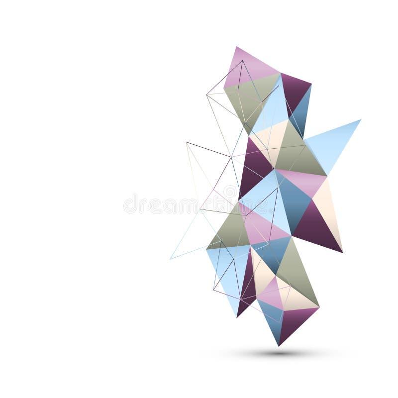Geometryczny handcraft papierowego odosobnionego abstrakcjonistycznego tło wektor ilustracja wektor