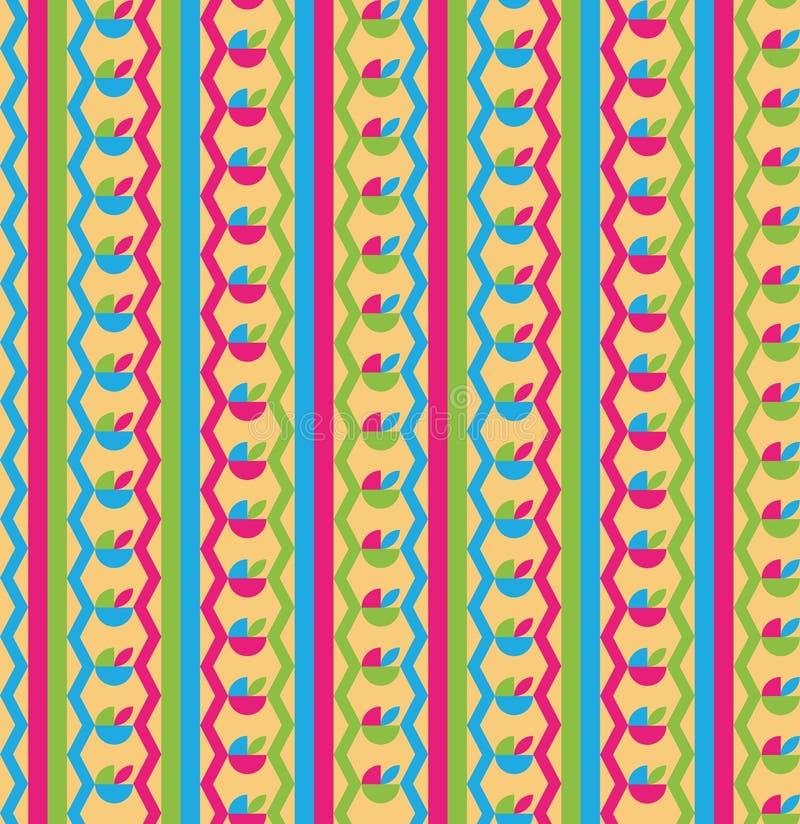 Geometryczny i kolorowy deseniowy tło ilustracji