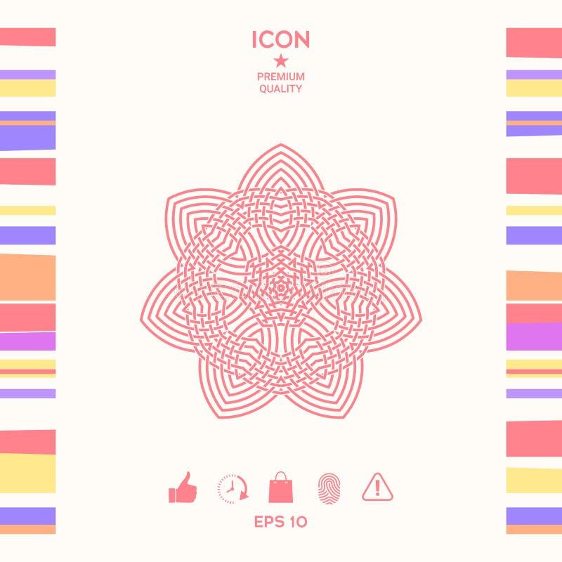 Geometryczny języka arabskiego wzór logo twój projekta element ilustracji