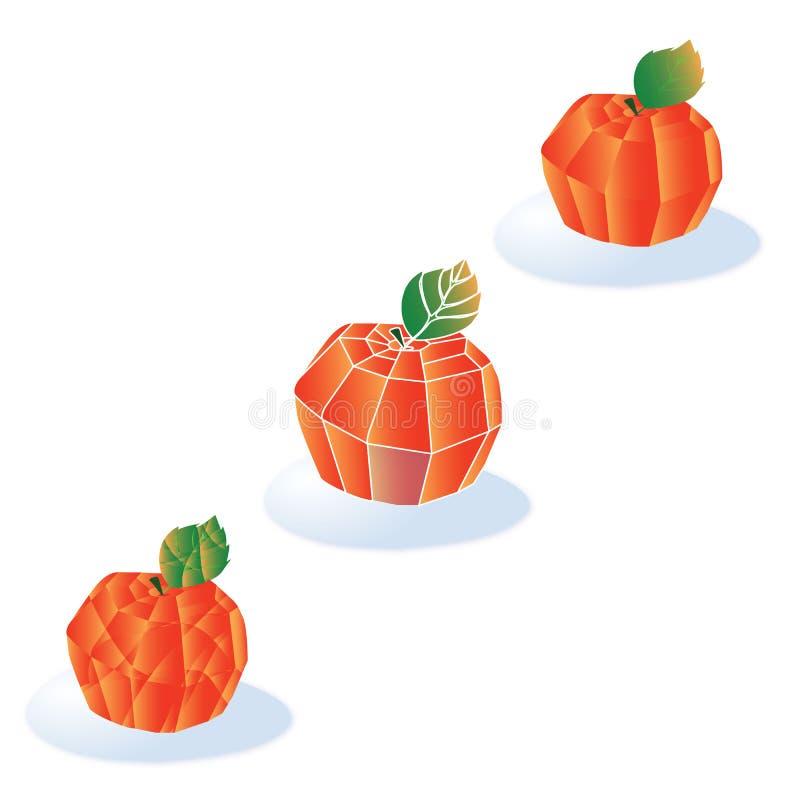 Geometryczny jabłczany projekt ilustracja fotografia stock