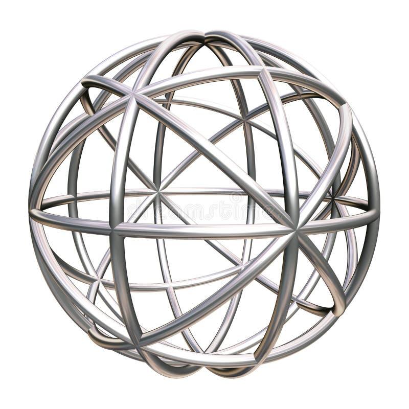geometryczny kruszcowy przedmiot ilustracji