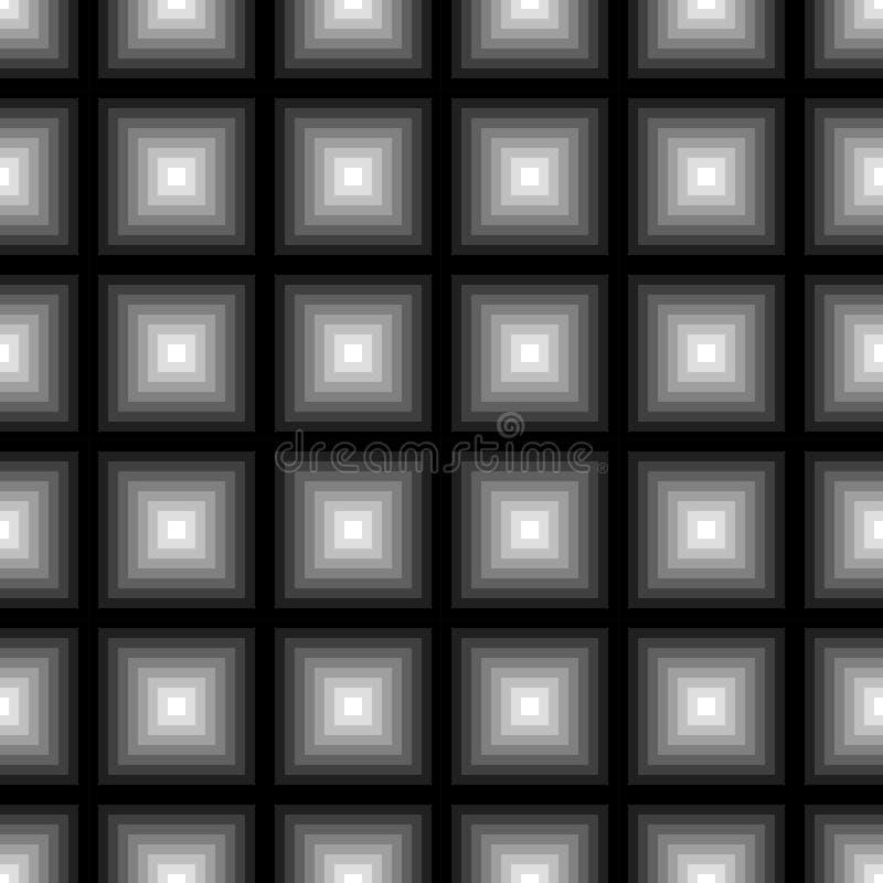 Geometryczny kwadratowy bezszwowy wzór Moda graficzny projekt również zwrócić corel ilustracji wektora Tło projekt Okulistyczny z ilustracja wektor