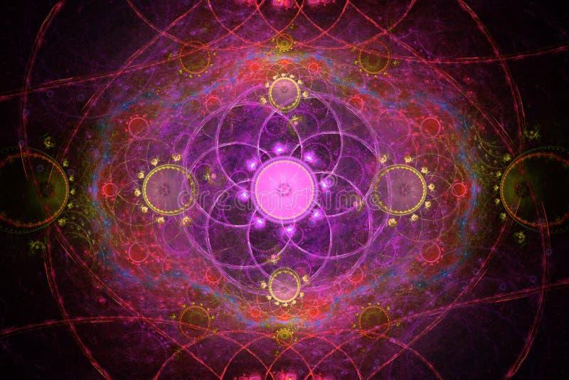 Geometryczny kwiecisty fractal fotografia royalty free
