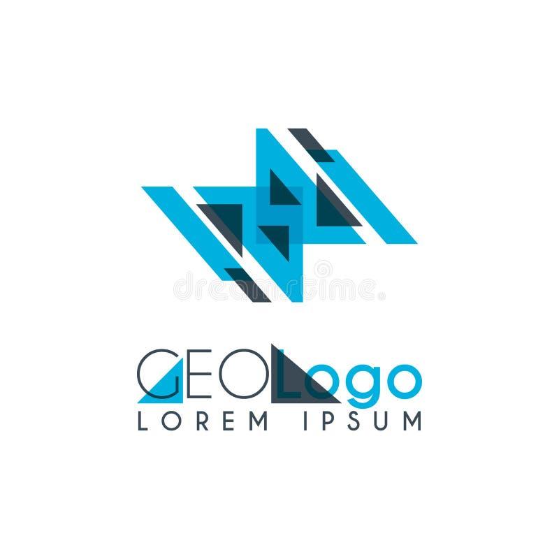 geometryczny logo z bławym i szarość brogującymi dla projekta (0) 2 ilustracji
