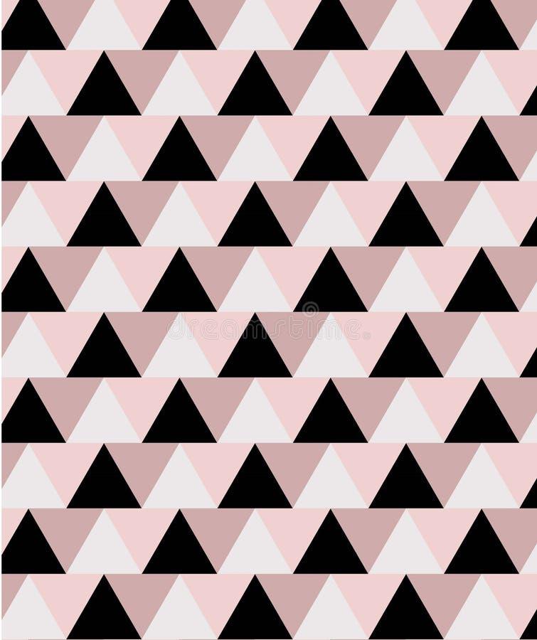 Geometryczny minimalny bezszwowy wz?r w menchii i czerni brzmieniach ilustracja wektor