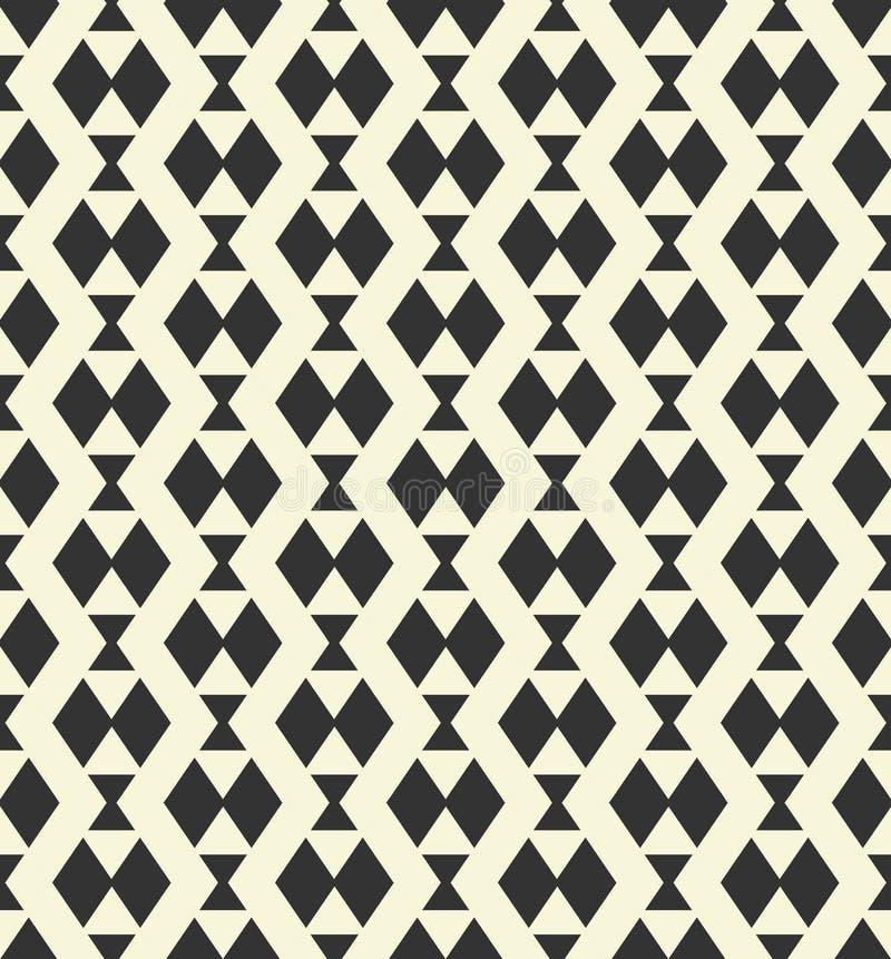 Geometryczny monochromu wzór royalty ilustracja
