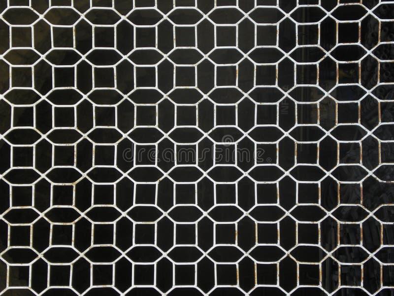Geometryczny ośmioboczny nadokiennego grilla wzór royalty ilustracja
