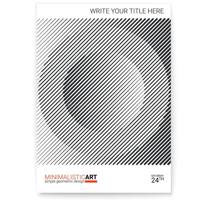 Geometryczny okładkowy projekt, nowożytny Kreatywnie plakat z prostym kształtem w bauhaus stylu, minimalistic sztuka nowożytna cy royalty ilustracja