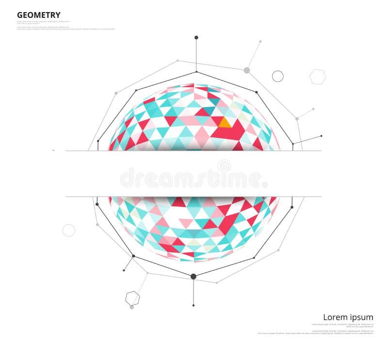 Geometryczny okrąg na białym tle z przestrzenią używać tekst lub h ilustracji