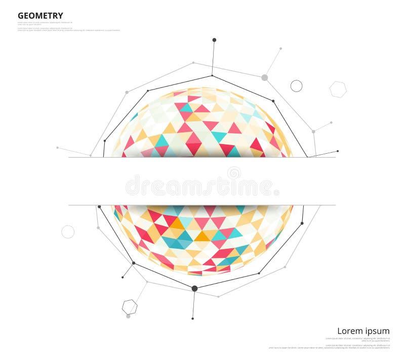 Geometryczny okrąg na białym tle z przestrzenią używać tekst lub h royalty ilustracja
