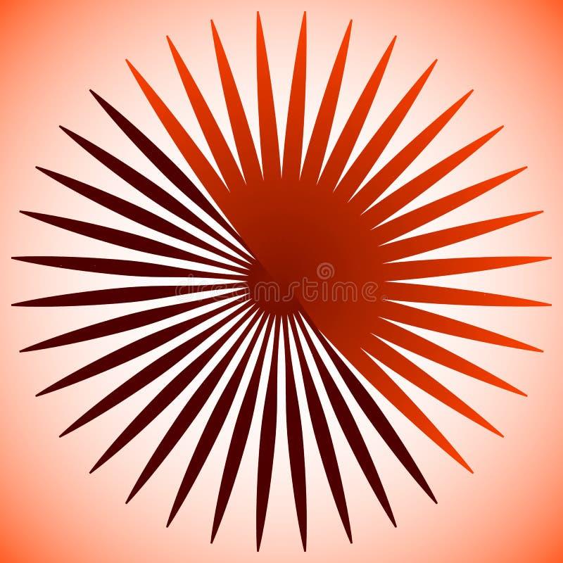 Geometryczny okręgu element promieniowe linie Pękać linii wcielać ilustracji