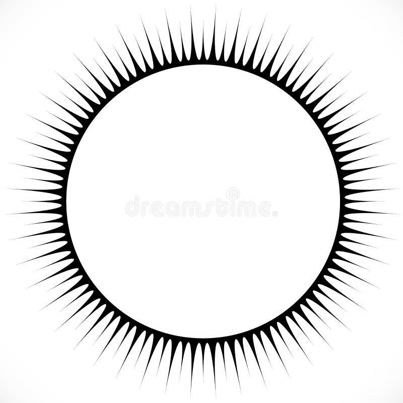 Geometryczny okręgu projekta element z promieniowymi liniami Abstrakt royalty ilustracja
