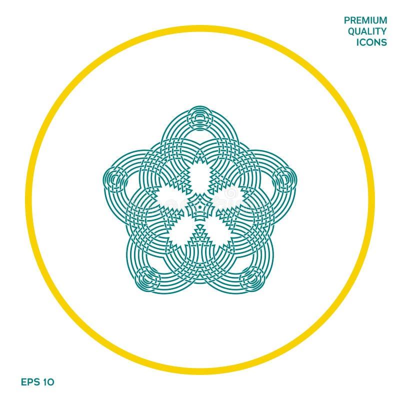 Geometryczny orientalny języka arabskiego wzór dla twój projekta Logo dla twój projekta ilustracja wektor