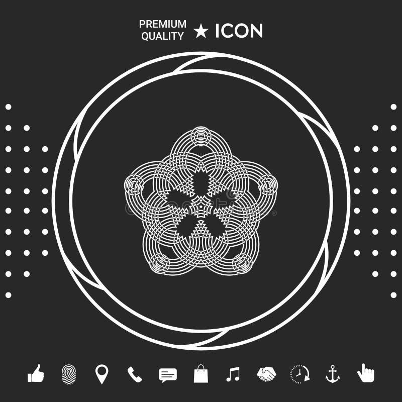 Geometryczny orientalny języka arabskiego wzór dla twój projekta Logo dla twój projekta Graficzni elementy dla twój designt ilustracja wektor