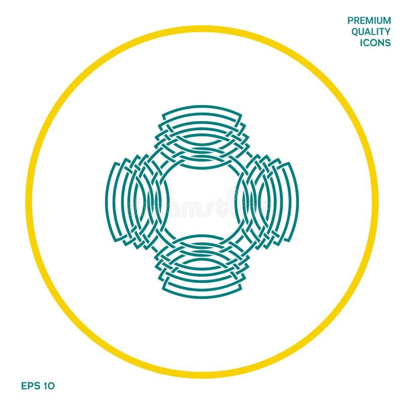 Geometryczny orientalny języka arabskiego wzór logo twój projekta element royalty ilustracja