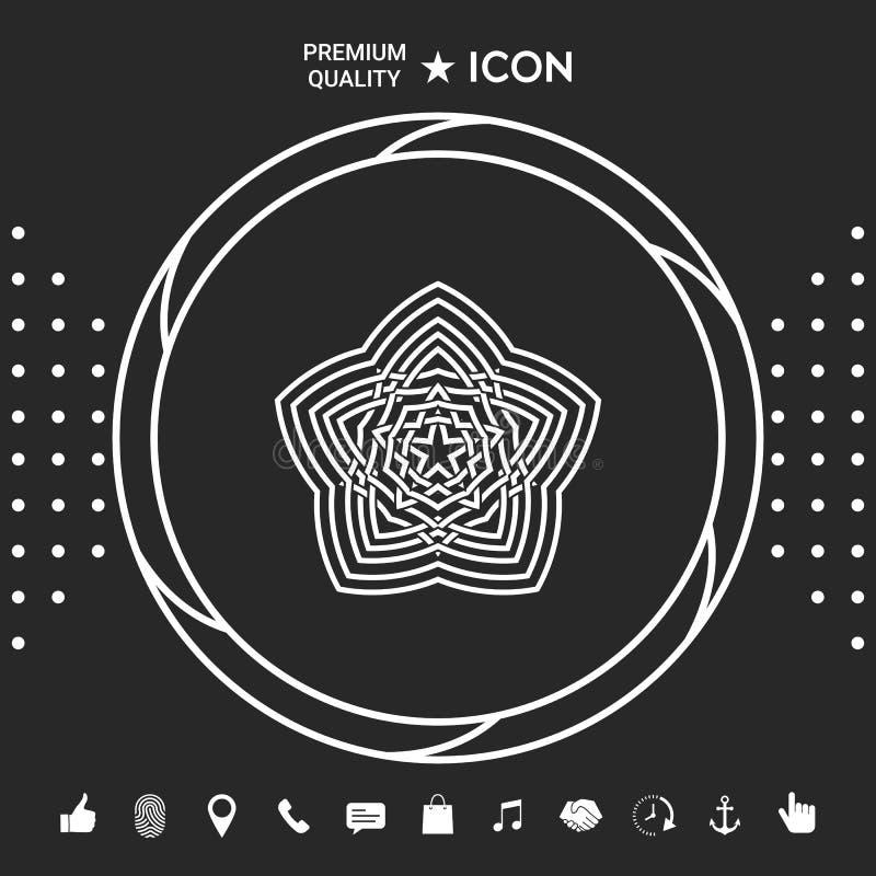 Geometryczny orientalny języka arabskiego wzór twój projekta element logo Graficzni elementy dla twój designt ilustracji