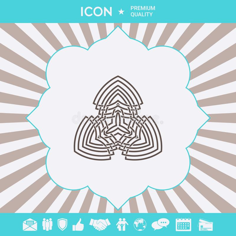 Geometryczny orientalny j?zyka arabskiego wz?r logo Graficzni elementy dla tw?j projekta royalty ilustracja