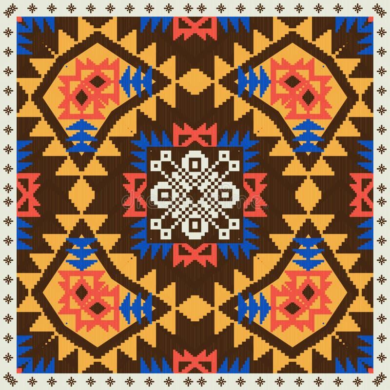 Geometryczny ornament w etnicznym stylu ilustracja wektor