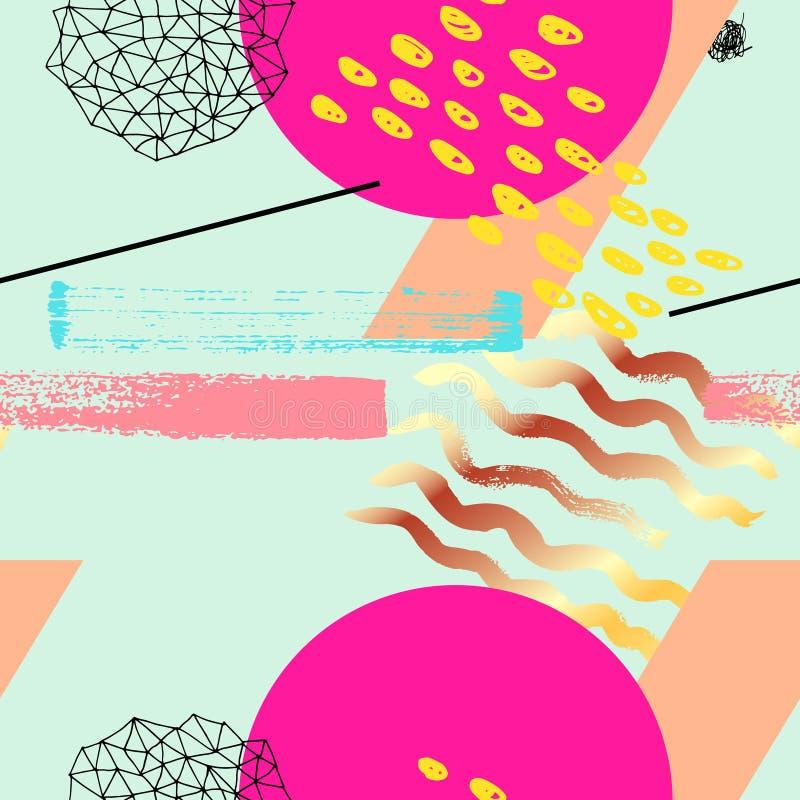 Geometryczny ostry bezszwowy wzór ilustracji