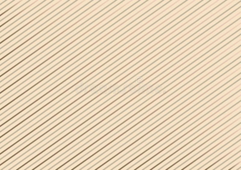 Geometryczny pasiasty wzór z ciągłymi liniami na pastelowym tle wektor royalty ilustracja